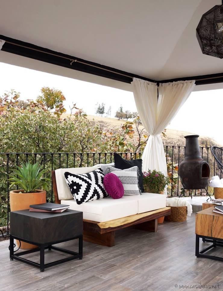 terraza hacienda Lomajim: Terrazas de estilo  por Talisma