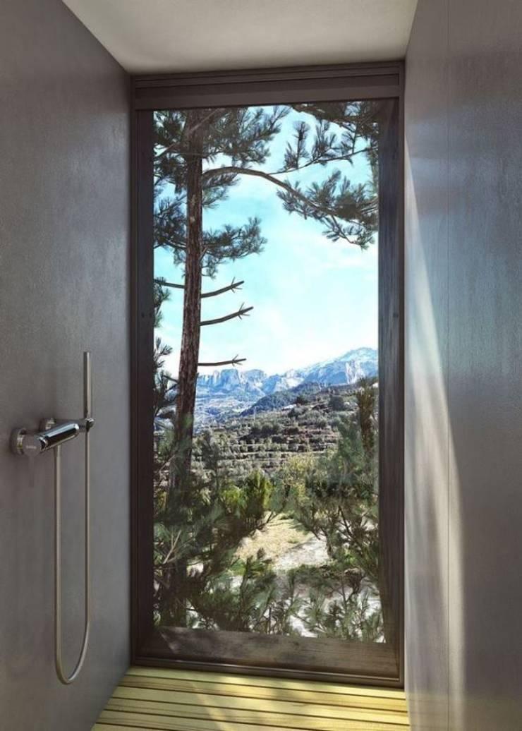 SARGRUP İNŞAAT VE ENERJİ LTD.ŞTİ. – VIVOOD Landscape Hotel:  tarz Duvarlar, Minimalist Orta Yoğunlukta Lifli Levha