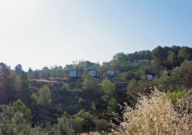 SARGRUP İNŞAAT VE ENERJİ LTD.ŞTİ. – VIVOOD Landscape Hotel:  tarz Evler, Minimalist