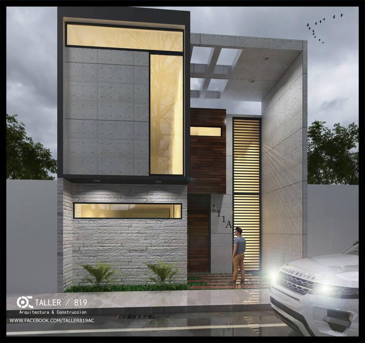fachada:  de estilo  por TALLER819 A & C