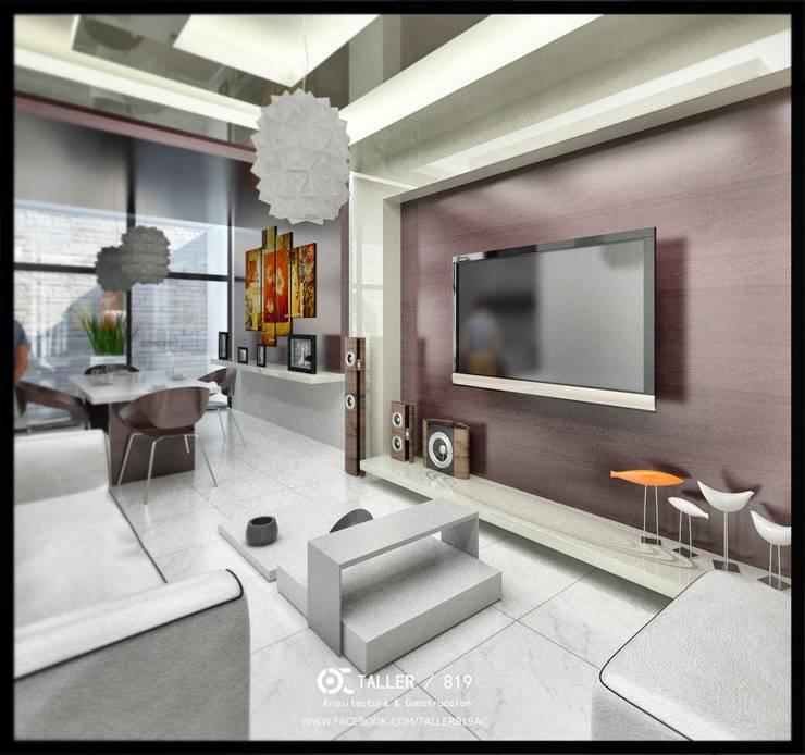 sala de estar :  de estilo  por TALLER819 A & C