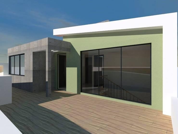 Ampliación Casa Habitación (Terraza): Terrazas de estilo  por Ingenieros y Arquitectos Continentes