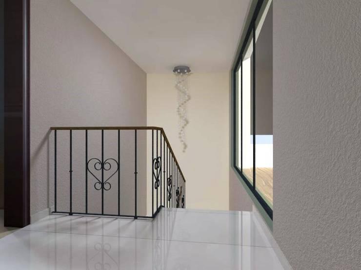 Hall y cubo de escaleras: Pasillos y recibidores de estilo  por Ingenieros y Arquitectos Continentes