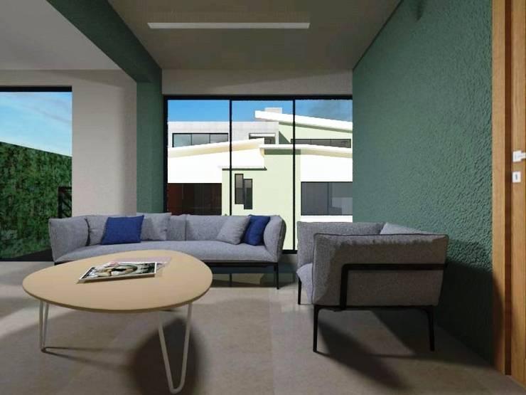Zona Estudio  (Lounge) Planta alta: Estudios y oficinas de estilo  por Ingenieros y Arquitectos Continentes