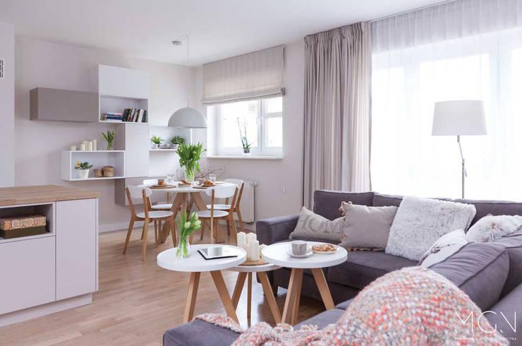scandinavian Living room by MGN Pracownia Architektoniczna