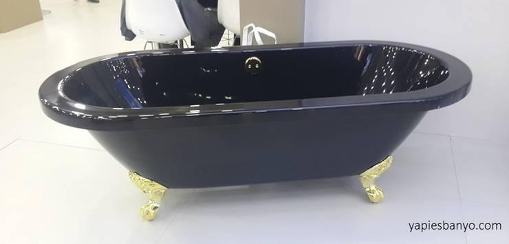 Yapıes Banyo – 177 x 80 Siyah Altın Ayaklı Küvet:  tarz Banyo