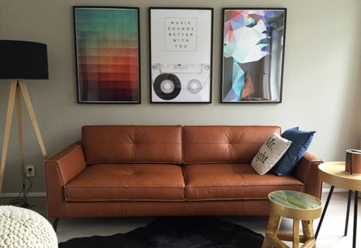Appartement Amsterdam:  Woonkamer door By Lenny