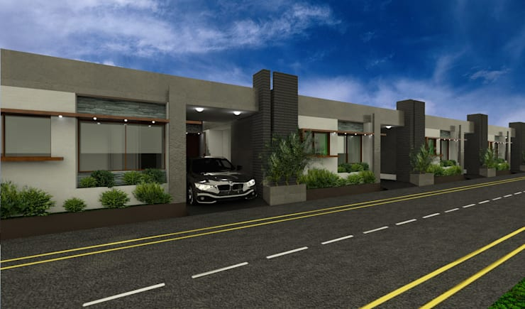 Front elevation  :  Houses by Lumous design Consultants,Modern