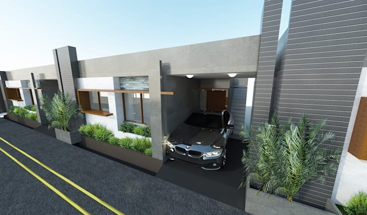 Row houses at Medahalli, Bangalore:  Houses by Lumous design Consultants,Modern