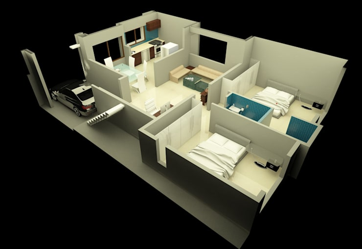 Moderne Wände & Böden von Lumous design Consultants Modern