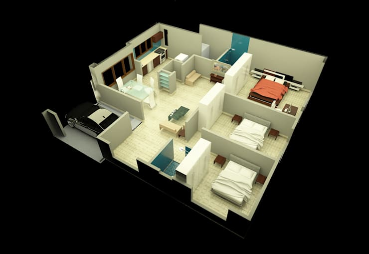 Row houses at Medahalli, Bangalore:  Walls by Lumous design Consultants,Modern