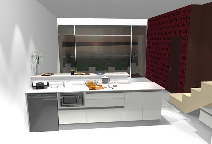 Cocinas reales, para personas reales:  de estilo  por Cesaro,