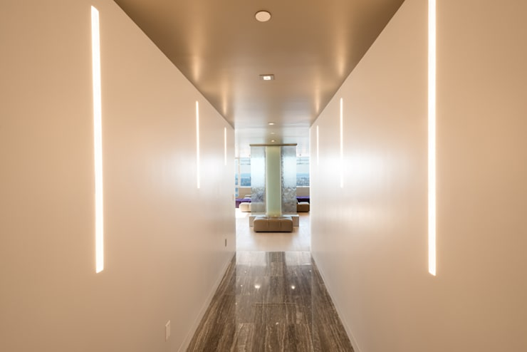 Luxury Apartment Combination:  Corridor, hallway by Andrew Mikhael Architect