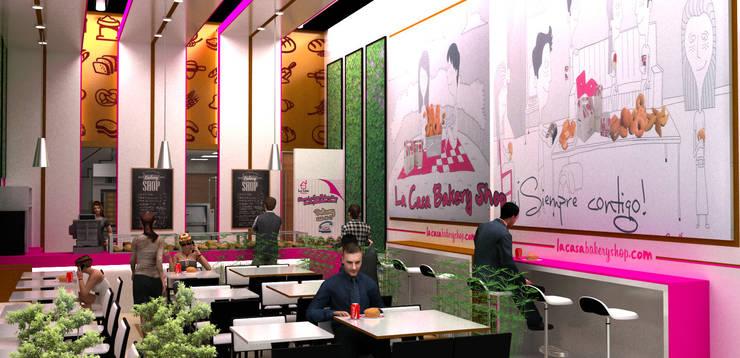 interior 3:  de estilo  por Elizabeth SJ, Moderno Aglomerado