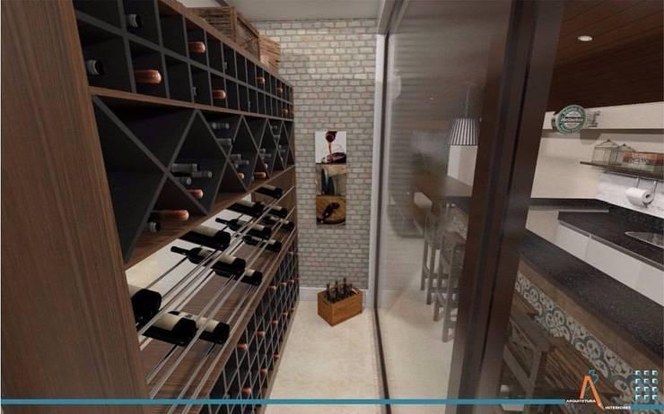 Reforma RF: Salas de estilo  por Ao Cubo Arquitetura e Interiores
