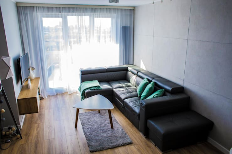 Living room by Pika Design, Modern