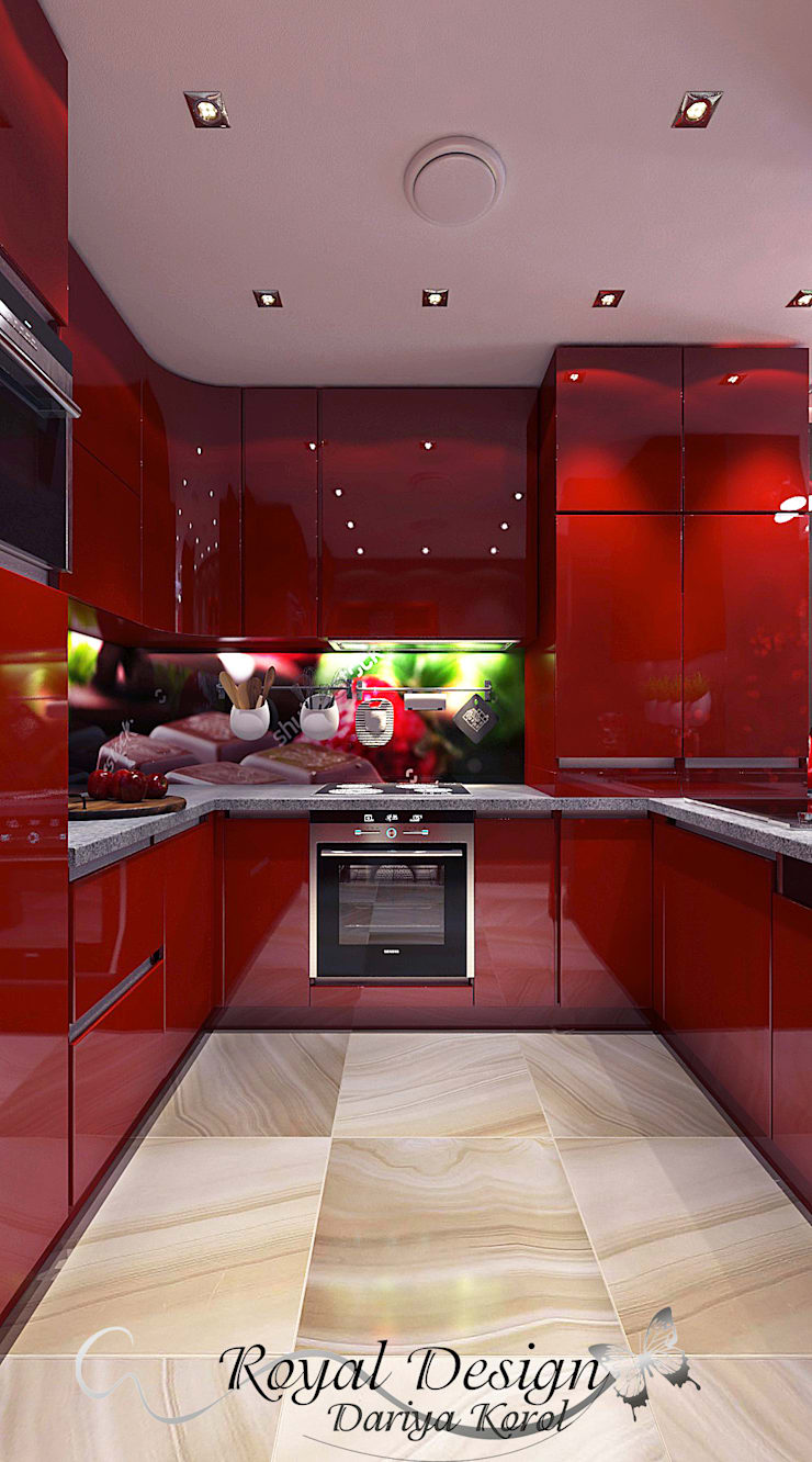 The kitchen in the panel house apartment: Кухни в . Автор – Your royal design,