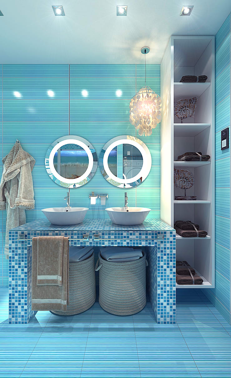 Bathroom by Your royal design, Mediterranean