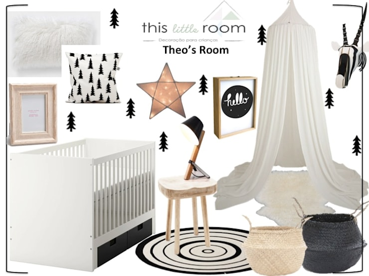 Mood Theo: Quarto de crianças  por This Little Room