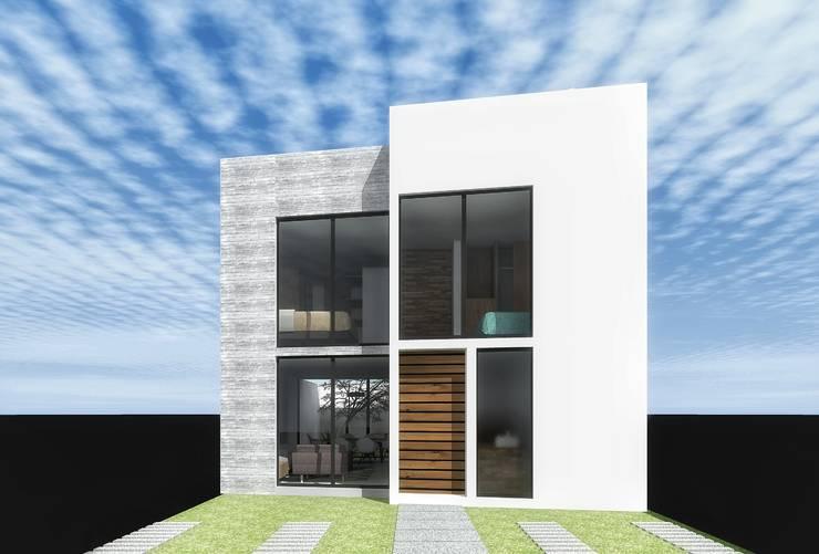 Prototipo casa 1: Casas de estilo  por PABELLON de Arquitectura