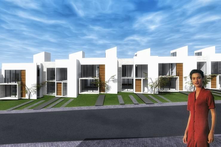 Conjunto de casas: Casas de estilo  por PABELLON de Arquitectura