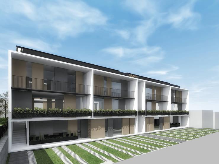 Fachada de departamentos:  de estilo  por PABELLON de Arquitectura