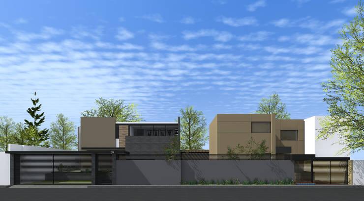 Fachada desde calle:  de estilo  por PABELLON de Arquitectura