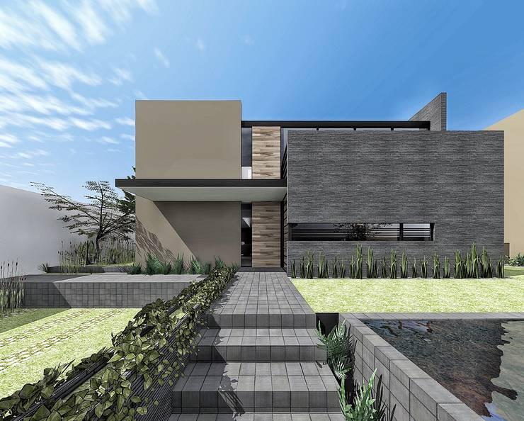 Acceso principal:  de estilo  por PABELLON de Arquitectura