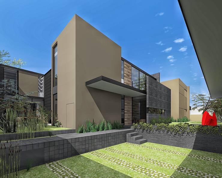 Vista desde Garage:  de estilo  por PABELLON de Arquitectura