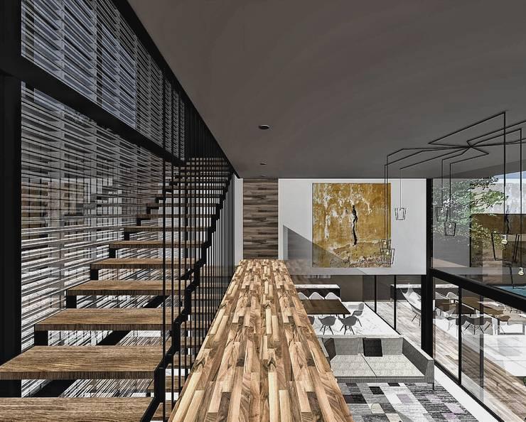 Vista desde puente interno:  de estilo  por PABELLON de Arquitectura