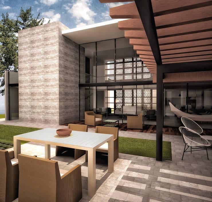 Vista terraza:  de estilo  por PABELLON de Arquitectura
