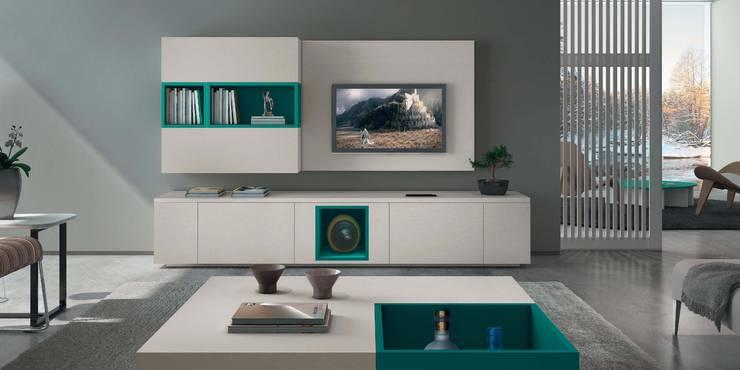 Mobiliário de sala de estar Living room furniture www.intense-mobiliario.com  SASHA http://intense-mobiliario.com/pt/salas-de-estar/3619-sala-de-estar-sasha.html: Sala de estar  por Intense mobiliário e interiores;