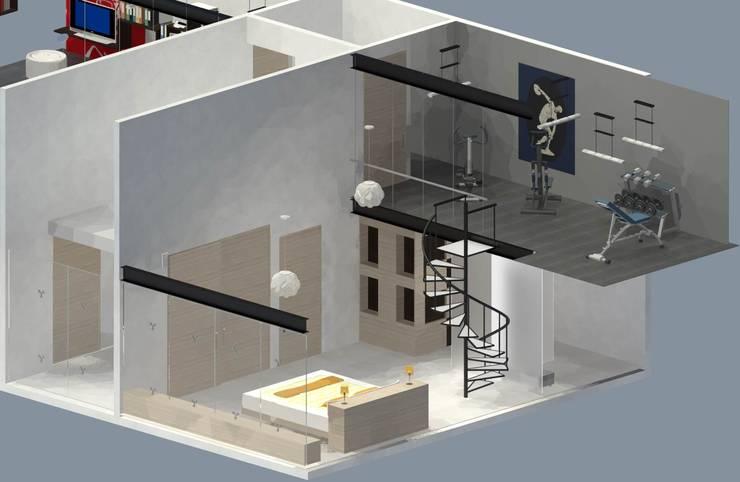 Recámara Principal: Recámaras de estilo  por Molcajete Arquitectura Interiores Diseño