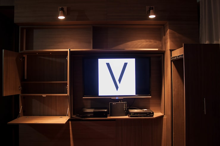 Muro multifuncional para departamentos de 1 ambiente: Hogar de estilo  por Vertex