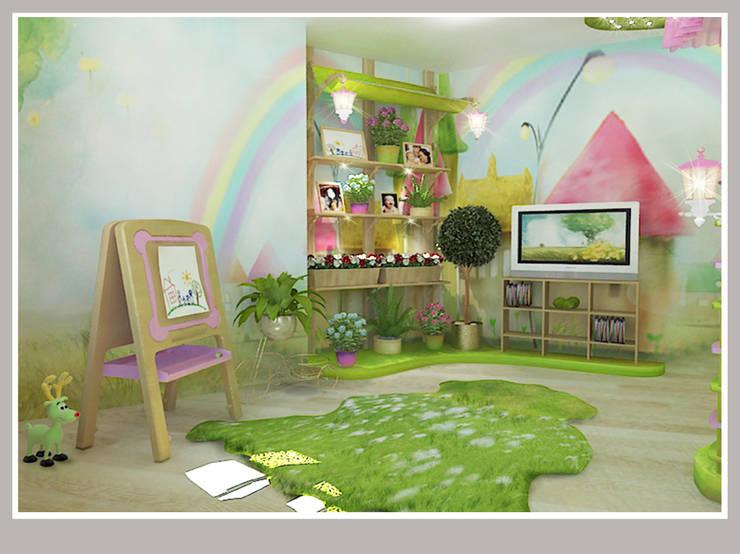 Детская  для девочек Вид 1: Детские комнаты в . Автор – Рязанова Галина