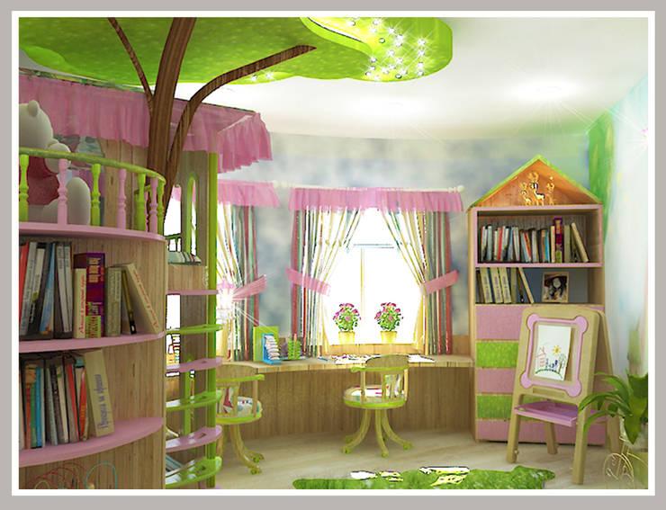 Детская  для девочек Вид 3: Детские комнаты в . Автор – Рязанова Галина