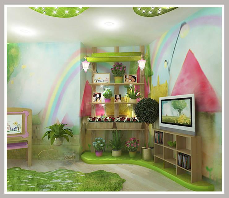 Детская  для девочек Вид 4: Детские комнаты в . Автор – Рязанова Галина