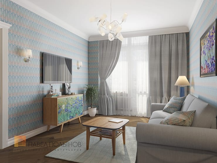 غرفة المعيشة تنفيذ Студия Павла Полынова