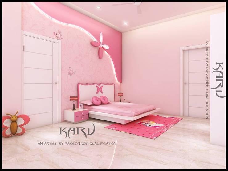 BEDROOM: modern Nursery/kid's room by KARU AN ARTIST