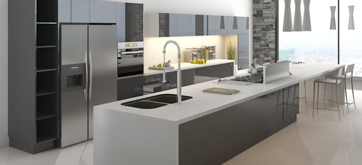 cocina: Cocinas de estilo  por AParquitectos