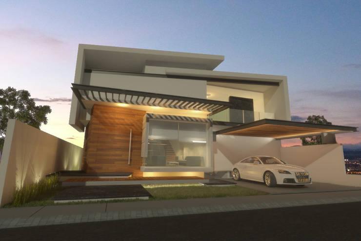 Fachada de día: Casas de estilo  por AParquitectos