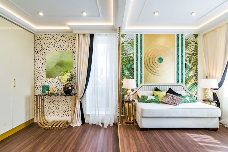 Salon de style  par Tony House Interior Design & Decoration, Tropical