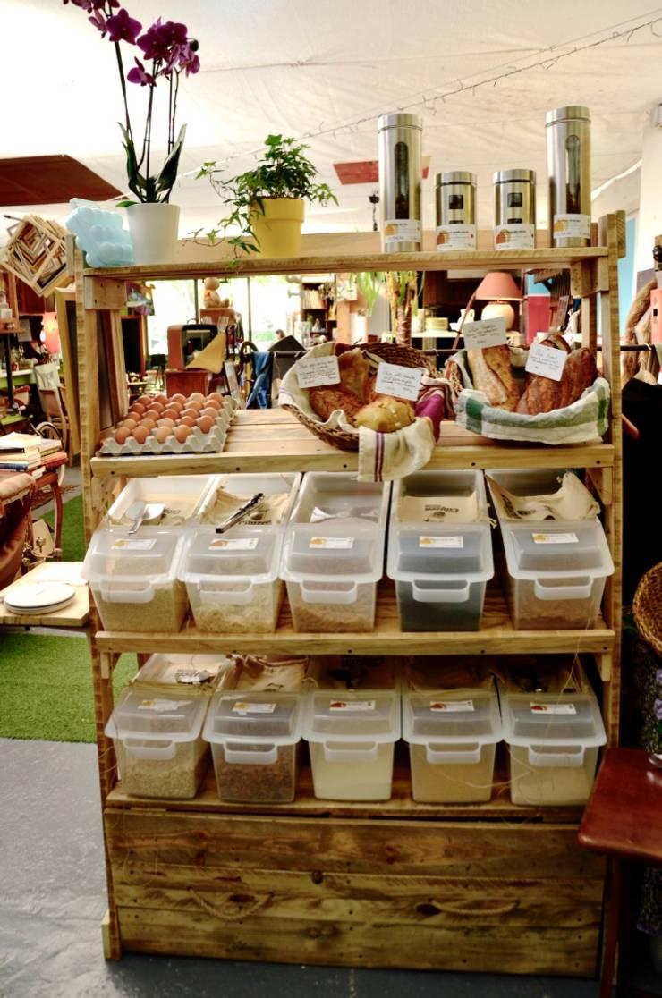 Meuble étagères & tiroir en palettes pour épicerie vrac ...