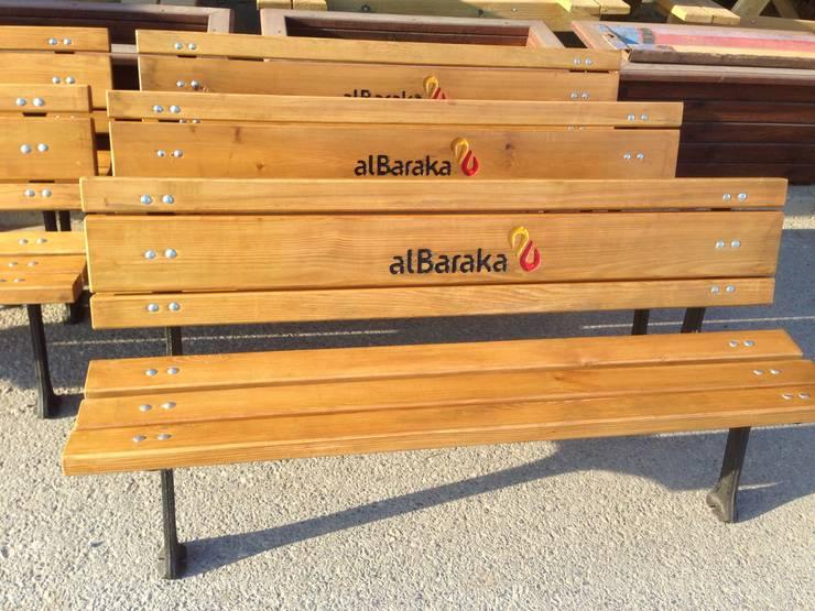 As3 Orman Ürünleri San Ve Tic Ltd Şti – AHŞAP BANK:  tarz Bahçe, Tropikal İşlenmiş Ahşap Şeffaf