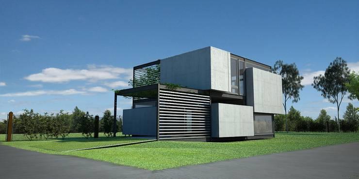 MKIT - 3D - 325:  de estilo  por metodokit - vivienda suburbana,