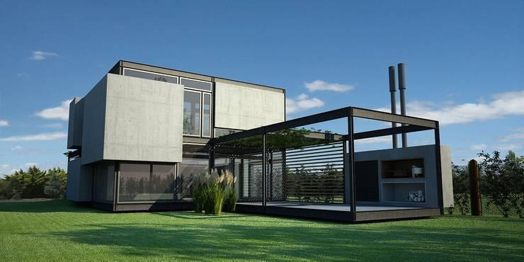 MKIT – 3D – 325:  de estilo  por metodokit - vivienda suburbana,