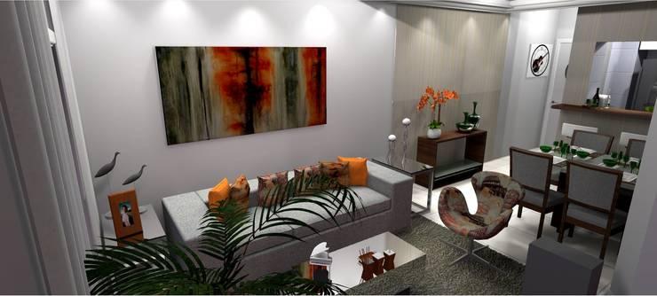 Living room by Arquiteta Elaine Silva