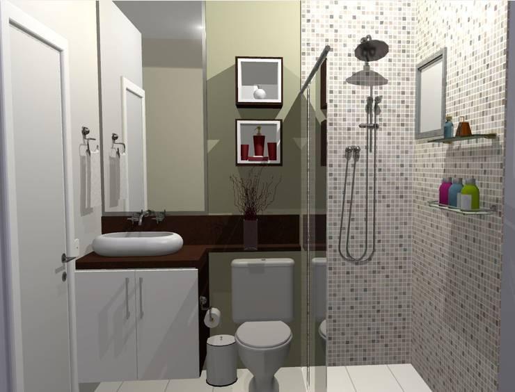 Bathroom by Arquiteta Elaine Silva