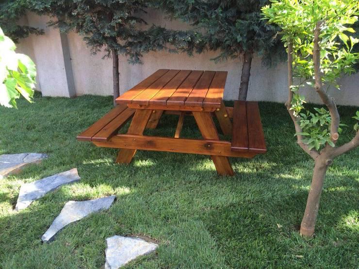 As3 Orman Ürünleri San Ve Tic Ltd Şti – PİKNİK MASASI: modern tarz , Modern Ahşap Ahşap rengi