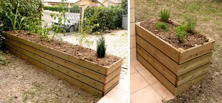 Jardinière bois Jardin moderne par Constans Paysage Moderne